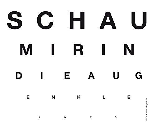 Brillenputztuch 17 x 15 cm • 44260 ''Schau mir in die Augen Kleines'' von Inkognito • Künstler: INKOGNITO © Martin Scheffler