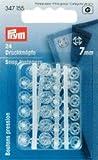 PRYM 347155Druck Kunststoff transparent 7mm-24- Kunststoff weiß 2x 1x 1cm