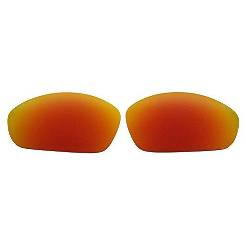 COODY Ersatz Polarisierte Gläser für Oakley Gerade Jacke (2007) Sonnenbrille, Unisex, Fire Red Mirror