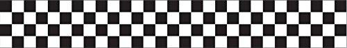 Creative Converting 071581 Krepppapier-Streamer, 76,2 m, Schwarz/Weiß kariert