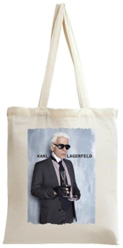 Portrait Of Karl Holding The Glass Tote Bag