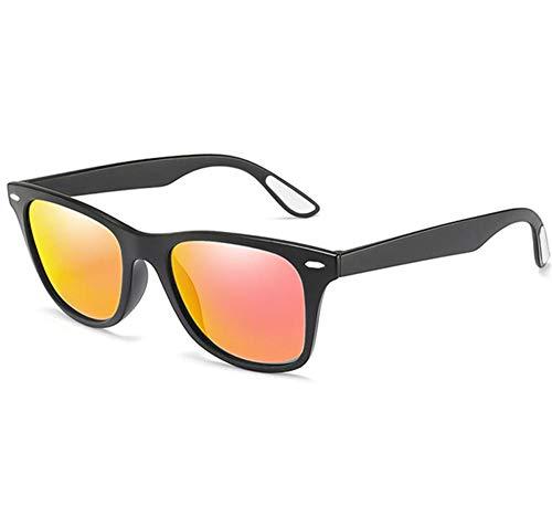 Stilvolle Retro Mans UV-Schutz Sonnenbrille für Radfahren Laufen Fahren Angeln Golf Baseball Brille, perfekte Weihnachtsgeschenk@(weiß) rot