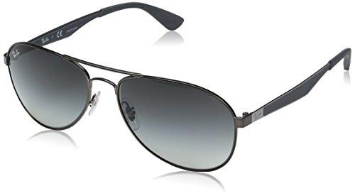 Ray-Ban Herren Sonnenbrille Rb 3549 Matte Gunmetal/Gradientgrey, 61