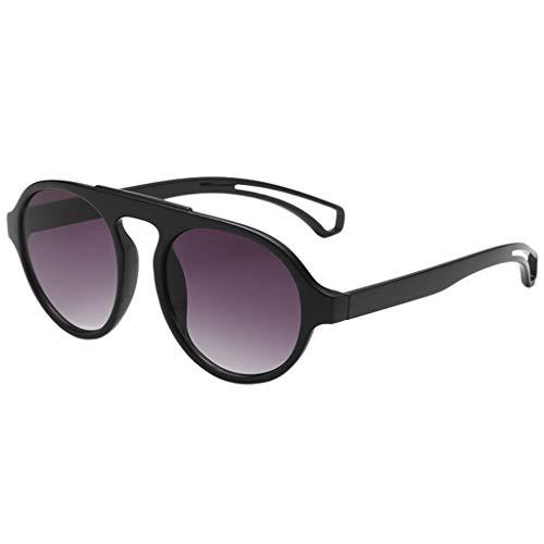Hniunew Klassisch Polarisiert Katzenauge Sonnenbrille für Damen UV400 Schutz Sonnenbrille Retro Style Circle Sonnenbrille Runde Linse für Damen Sunglasses, 2019 Trend Vintage Style