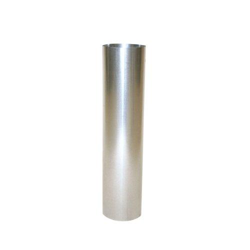 Kamino Flam Ofenrohr silber, feueraluminiertes Rauchrohr aus Stahl für sichere Ableitung von Verbrennungsgasen, rostfreies Kaminrohr, geprüft nach Norm EN 1856-2, Maße: L 500 x Ø 110 mm