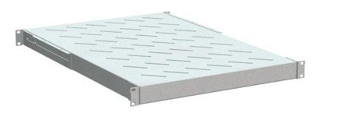 'Magic FB1-800-w Tray Rack für Kleiderschrank Rack, 1U, für Racks 19, 50kg von 650bis 850mm, RAL 7035, Farbe: Grau