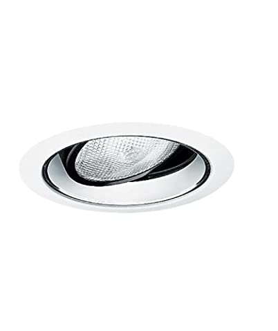 Juno Lighting Group 689HZ-WH Gimbal Ring in Cone Recessed Trim, Haze Alzak with White Trim by Juno Lighting Group