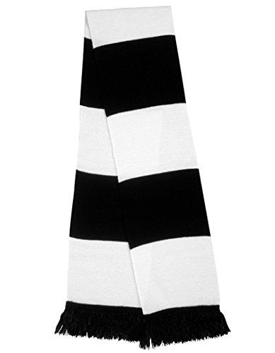 Result R146x - Bufanda para Aficionados, Unisex, R146X, Negro/Blanco, Talla única