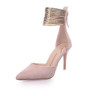 Zormey Les Talons Des Femmes Printemps Été Chaussures Club Pu Fleece Partie &Amp; Tenue De Soirée Talon Aiguille Décontracté Fermeture Éclair US5.5 / EU36 / UK3.5 / CN35