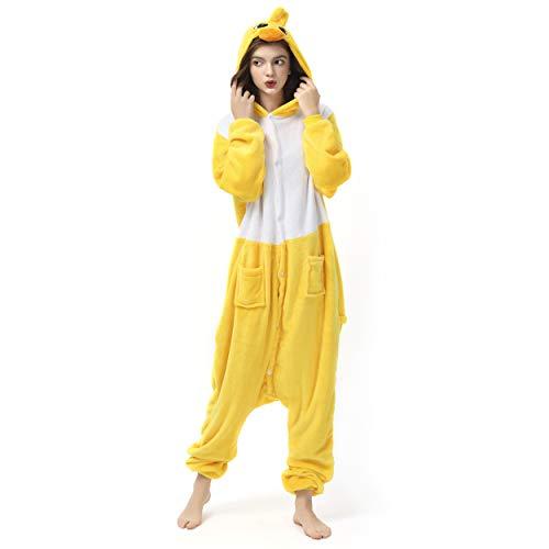 Katara 1744 (30+ Designs) Enten-Kostüm Küken, Unisex Onesie/ Pyjama-Qualität für Erwachsene & - Huhn Maskottchen Kostüm