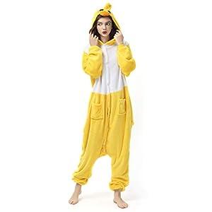 Katara- Pijamas Enteros Diferentes Animales y Tamaños, Adultos Unisex, Color Pato Amarillo, Talla 175-185cm (1744)