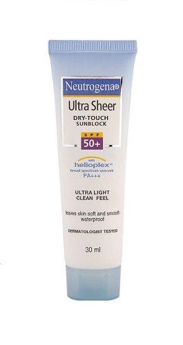Neutrogena Ultra Sheer Dry Touch Sunblock SPF 50+, 30ml