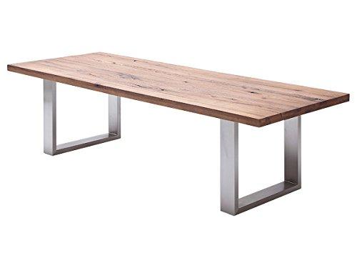 """Esszimmertisch Holztisch Esstisch Küchentisch Tisch Massiv Küche """"Castello I"""" (Eiche Bassano, 220x100 cm)"""