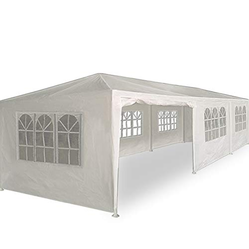 Deuba Festzelt Paris 3x9m weiß | UV-Schutz 50 + | wasserabweisend | 27m² | Festival Pavillon | 8...