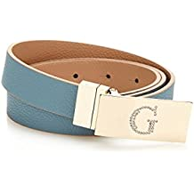20425b807f51 Guess Ceinture Reversible Femme Digital Bleu Marron