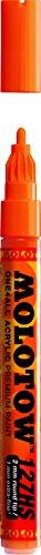 Molotow 127-HS Marker ONE4ALL, 2mm Spitze, 5,0ml, DARE orange (Stift Tinte Orange)