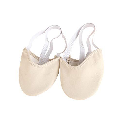 Leezo Zapatillas de Ballet duraderas de Lona con Media Suela, para Gimnasia...