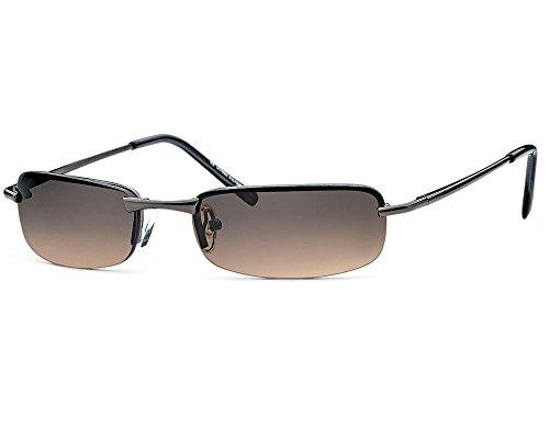 Sonnenbrille rechteckig Herren Gangster Cool Trend Sonnen Brille braune Gläser Federscharnier sb06 (braun)