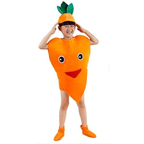 Kinder Obst Gemüse Kostüme Kinder Party Cosplay Kleidung Für Kinder Kostüm Party Jungen Mädchen (Karotte) (Karotte Kostüm Kind)