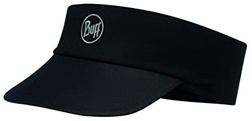 Buff Pack Run Visor Cap Laufstirnband + Ultrapower Schlauchtuch | UV-Schutz | Laufen | Joggen | Sportmütze | Sport-Kappy | Laufkappe | Schirmmütze, Design: R-Solid Black - 119483.999.10.00