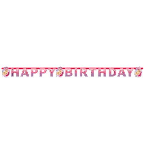 Amscan International Schuhe Happy Birthday Letter Banner (Barbie Pink)