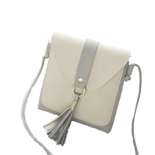 227e61a4b1c66 Handtaschen Für Frauen Kleine Quaste Schulter Massage Taschen Dame Mini  Nette Weiße Farbe Passende Tasche Cross
