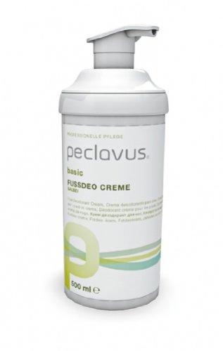 500 Salbei (Peclavus Basic Fußdeo Creme, Fußcreme gegen Fußgeruch, mit Salbei, 500 ml)