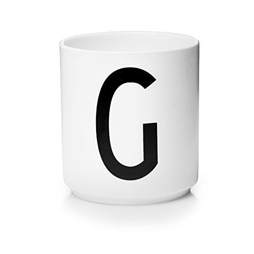 Design Letters – Gobelet – Lettre Tasse : – Lettre G – Porcelaine – Arne Jacobsen
