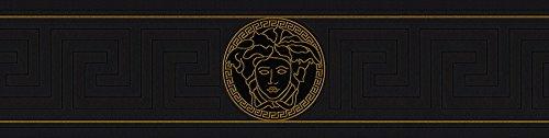 Versace Rand–Material: vinílico sobre-tejido–Farbe: schwarz, gold–Art. Nr.. 1504–3264