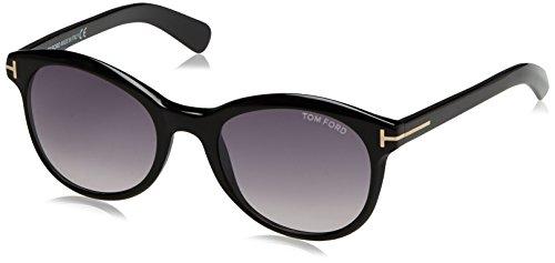 Tom Ford Damen FT0298 01B 51 Sonnenbrille, Schwarz (Nero Lucido/Fumo Grad),