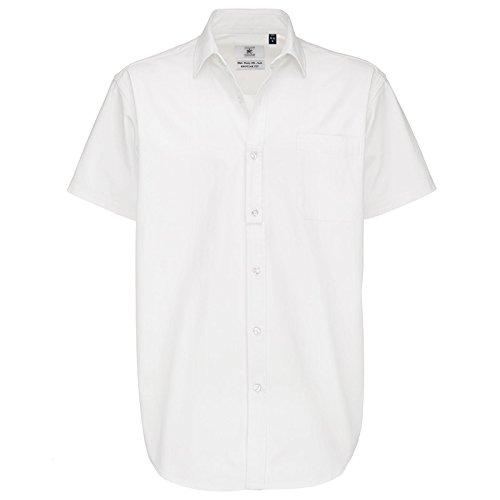 B C Collection Herren & Sharp Smart Work Short Sleeve Weiß