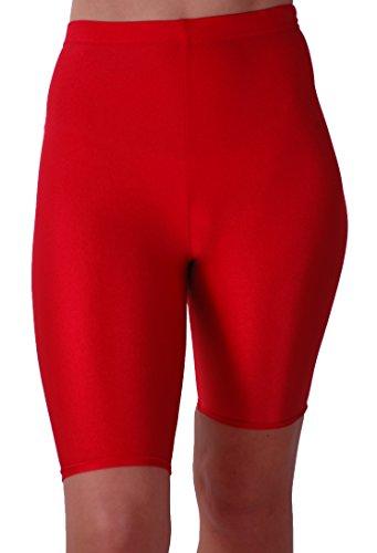 EyeCatch - Short de sport brillant stretch - Ryder - Femme Rouge