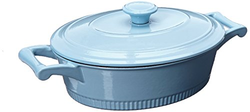 KitchenAid kcti30crgb Traditional Cast Iron Casserole Cookware, 3 Quart – Glacier Blue by KitchenAid