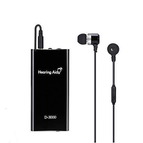 Dispositivo acustico leggero, carica usb binaurale per riduzione intelligente del rumore, adatto per anziani e ipoudenti amplificatore acustico, nero
