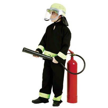 Feuerwehr-Kostüm Kinder Feuerwehr-Mann Fasching Karneval Kinder-Kostüm Gr. 116 Waschbar Polyester Schadstoff ()