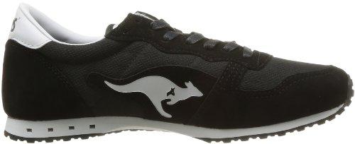 Kangaroos Blaze III, Sneaker unisex adulto Nero (Nero/Bianco)