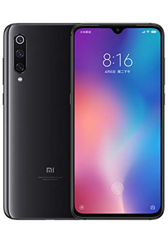 "Xiaomi Mi 9 Smartphone, 64 GB, AMOLED 6.39-Display "", 2280X1080, Snapdragon 855 Octa-Core, 6 GB RAM, 48 16 + 12 MP, Black Onyx"