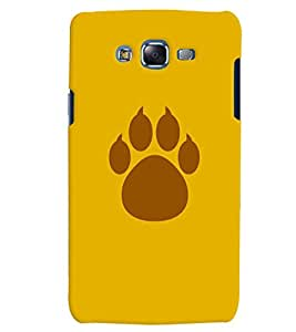 Citydreamz Animal Footprint Hard Polycarbonate Designer Back Case Cover For Samsung Galaxy J7