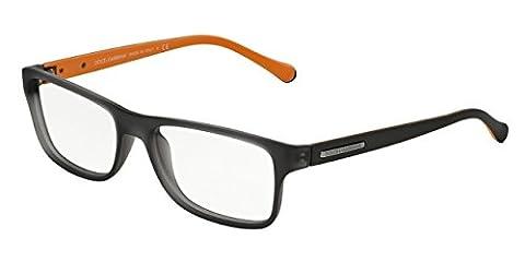 Dolce & Gabbana Men's 5009 Over Molded Rubber Semi-Transparent Grey Rubber Frame Plastic Eyeglasses
