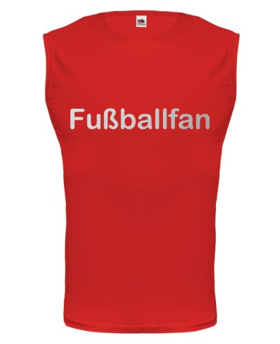 buXsbaum® Tank Top Fussballfan Red-Silver
