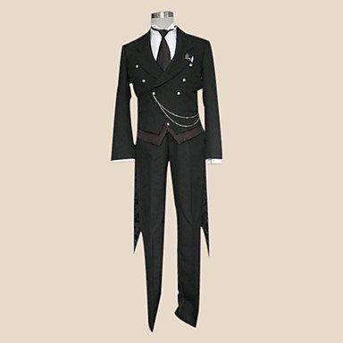 Sunkee Black Butler Cosplay Sebastian Michaelis Kostüm, Größe S( Alle Größe Sind Wie Beschreibung Gesagt, überprüfen Sie Bitte Die Größentabelle Vor Der Bestellung ) (Kostüm Black Butler Sebastian)