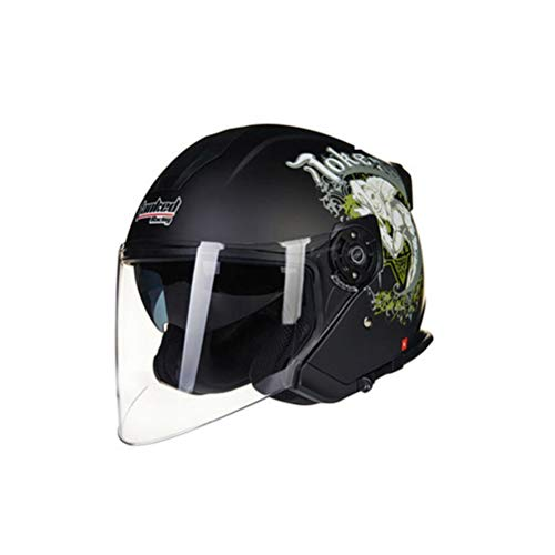 Casco moto unisex Doppia lente Anti Shock Light Mezza Caschi da moto per Outdoor Mountain Racing Protezioni Moto Motocross