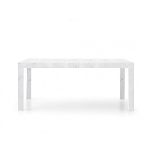 EsteaMobili estea Meubles - Table Moderne 160 x 90 avec rallonges Blanc frassinato - 657