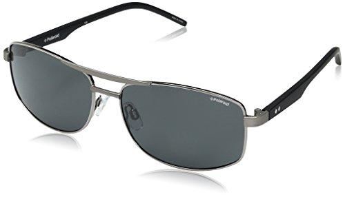 Polaroid Herren PLD 2040/S Y2 FAE 59 Sonnenbrille, Schwarz (Ruthen Black/Grey Pz),