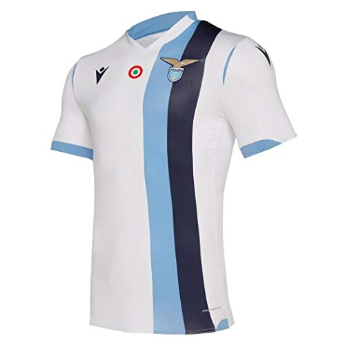Macron SSL M19 Gara Away Ufficiale Mm Sr Camiseta, Hombre, Blanco, L
