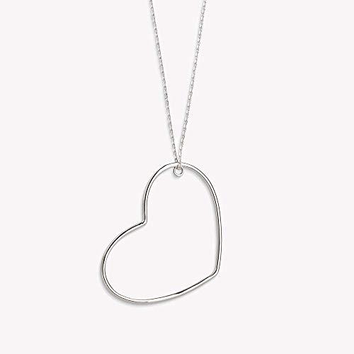 Xenox Silber Damen-Halskette Heart Beat XS1751