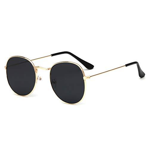 Taiyangcheng Runde Sonnenbrille Männer Metall Sonnenbrille Frauen Gafas De Sol De Los Hombres,Gold