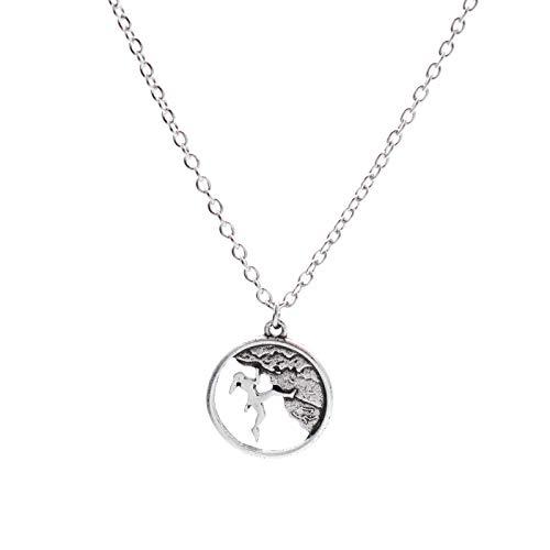 Silberfarbene Bouldern Klettern Halskette von Mia Manchini für Damen und Herren
