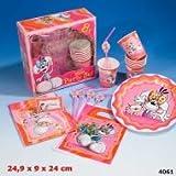 Depesche-Party Kindergeburtstags Set 4061 inkl Becher Servietten becher uvm in Pink