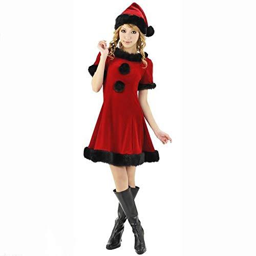Yunfeng weihnachtsmann kostüm Damen Weihnachts Kostüm Kostüm Leistung Kleid Little Red Riding Hood Halloweenkostüm Kostüm Erwachsene Weihnachtsfeier Cosplay Kostüm
